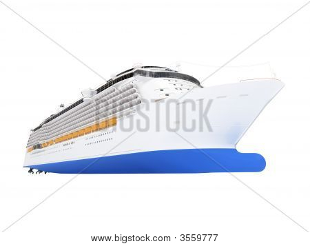 Cruise Ship Isolated Front View
