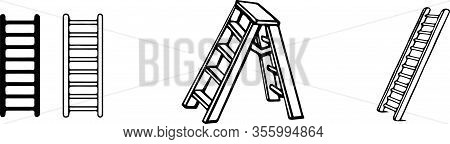 Staircase Icon Isolated On Background  Walkway, Way, Wooden