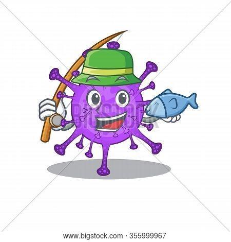 A Picture Of Funny Fishing Bovine Coronavirus Design