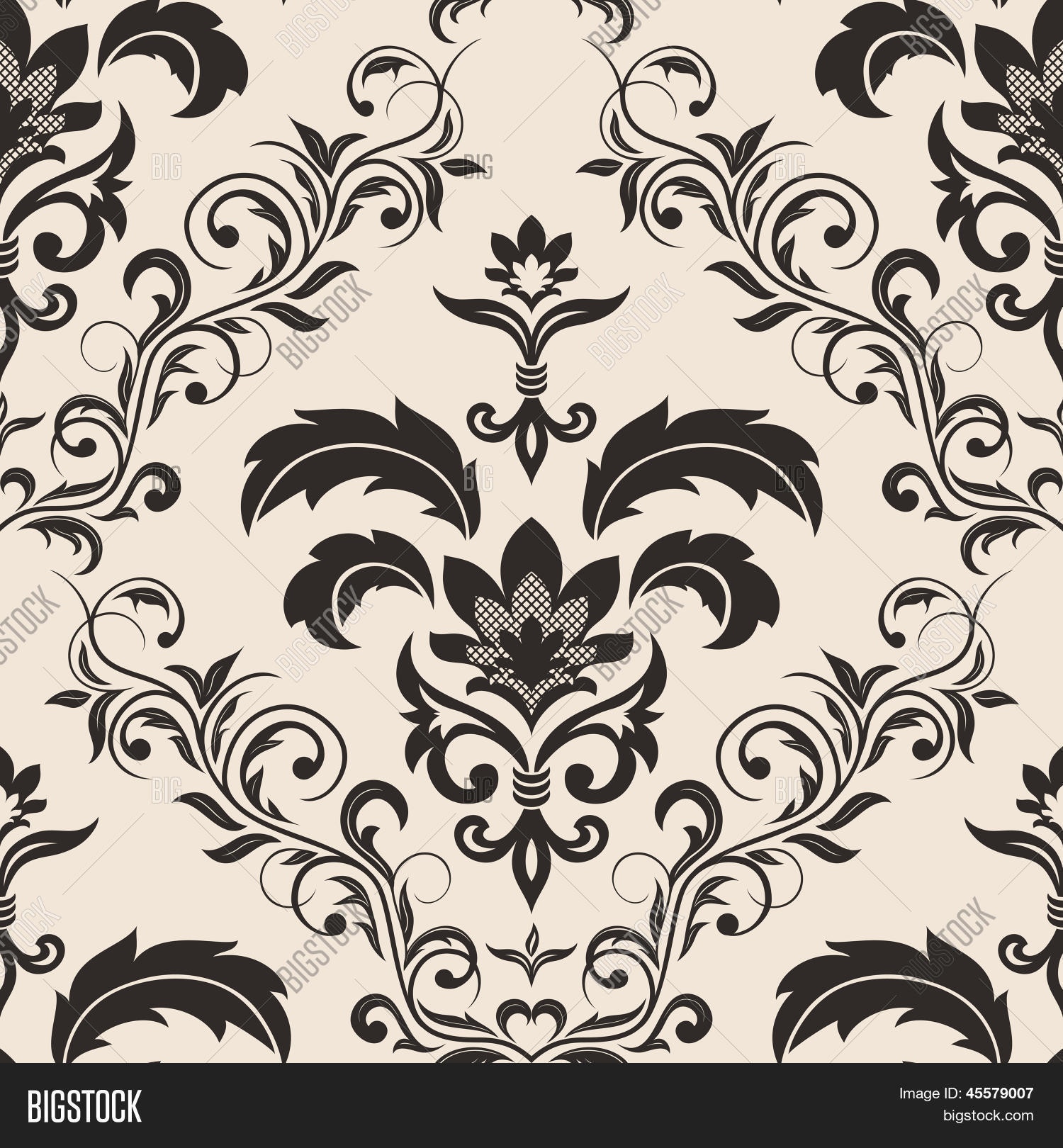 Seamless Gothic Floral Wallpaper