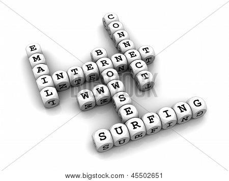 Internet - Dice Crossword game
