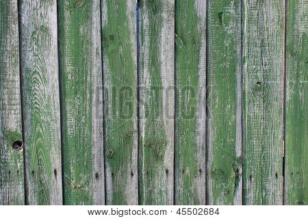 background from boards of a green fence