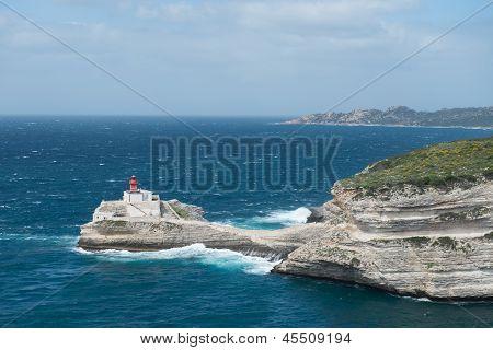 Lighthouse Of Bonifacio in Corsica, France