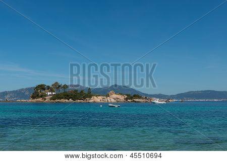 Island Of Castagna, Corsica, France