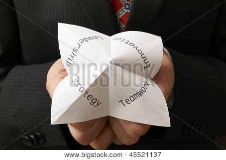 Businessman And Origami