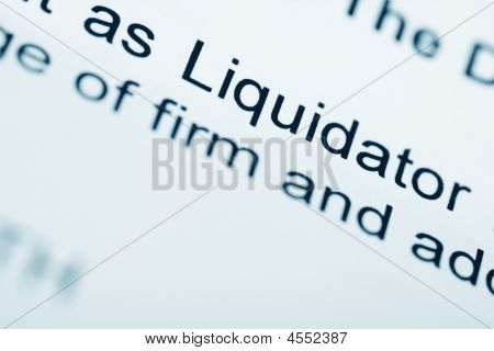 Official Letter From Liquidator