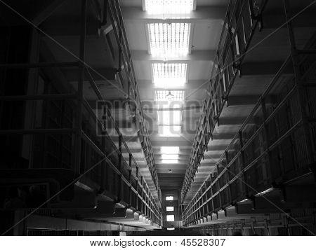Alcatraz Prison, San Francisco, Us - June 2005: A View Of The Prison Facilities On June 27, 2005