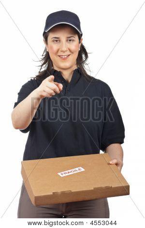 Delivering A Package Fragile
