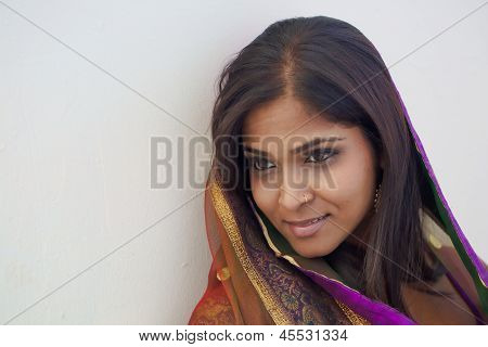 Intimate Portrait on An Indian Woman
