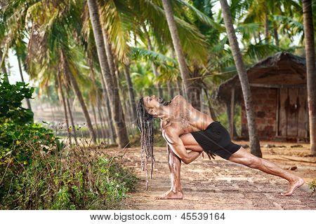 Yoga Twisting Pose