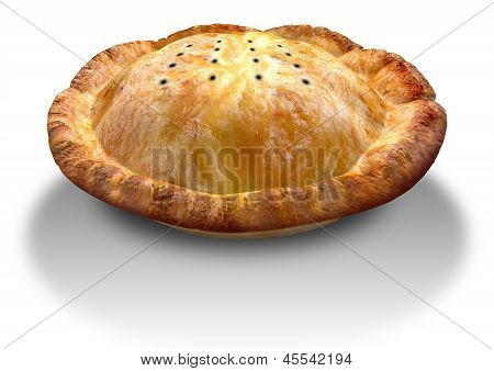 Golden Crispy Pastry Pie Perspective