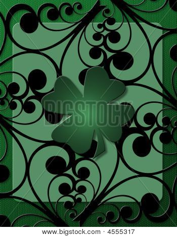 Shamrock And Swirls