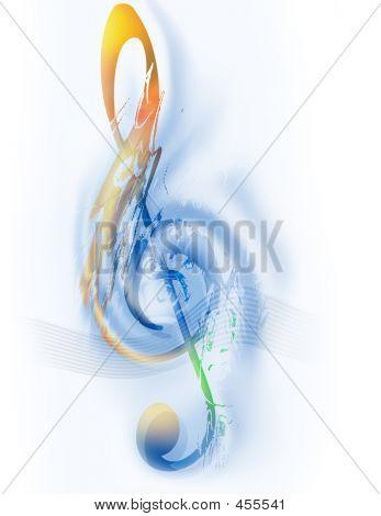 Music Treble Clef Digital Art