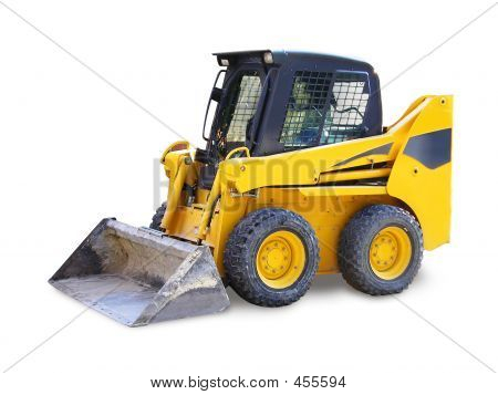 Mini Excavator Isolated
