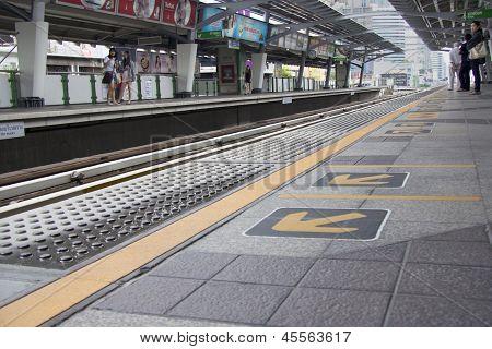 Bangkok, Thailand - Sept 16Th: Nana Bts Skytrain Station On September 16Th 2012. The Service Carried
