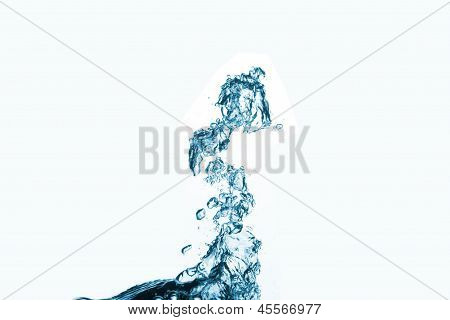 water splash in abstract form