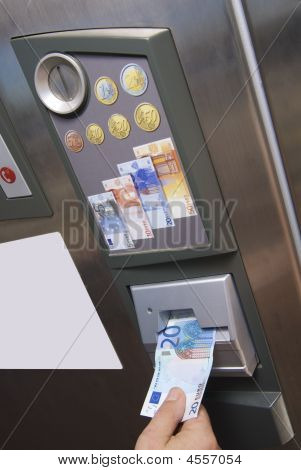 Automatic Paying Machine Euro Currency