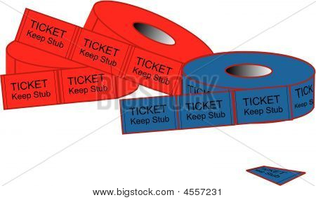 Admission Or Prize Tickets Illustration