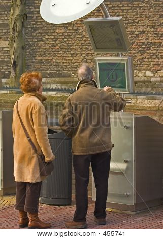 Couple Getting Information