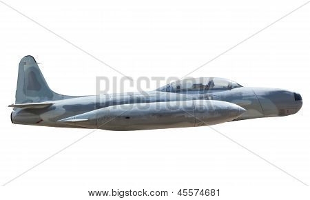 side view of military air plane isolated on white use for multipurpose poster