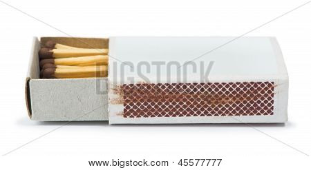 White isolated matches and matchsticks. Studo shot poster