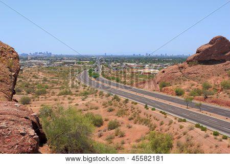 Road to Phoenix Downtown, AZ