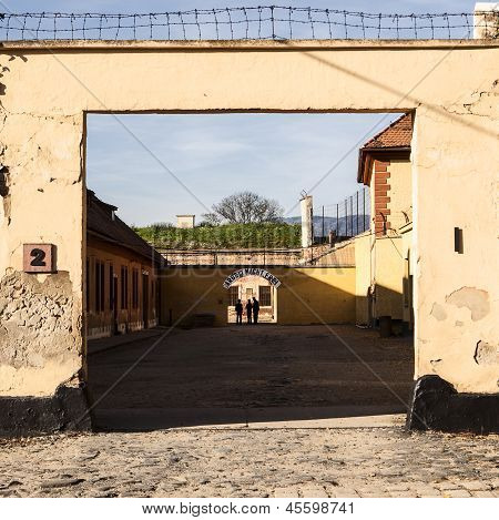 Courtyard At Theresienstadt