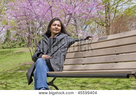Indian woman in outdoors