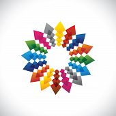 Abstract colorful & brilliant creative design star symbol. This graphic vector illustration is with vivid and vibrant colors and includes orange red blue pink and green colors poster