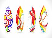 abstract colorful surf board template vector illustration poster