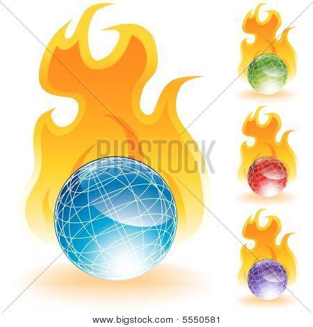 Flame globes