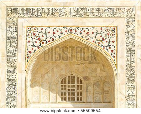 Taj Mahal building details at agra,Uttar Pradesh,india