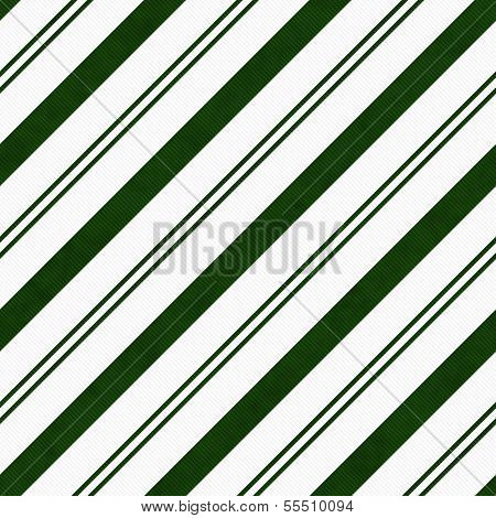 Hunter Green Diagonal Striped Textured Fabric Background that is seamless and repeats poster