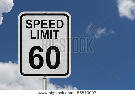 Speed Limit 60 Sign