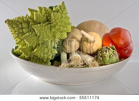 Vegetables In Bowl