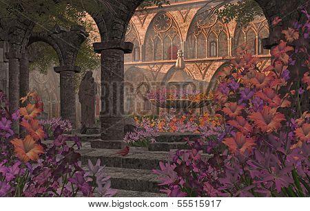 Old Monastery Garden Courtyard
