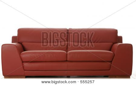 Red Leather Coach Front