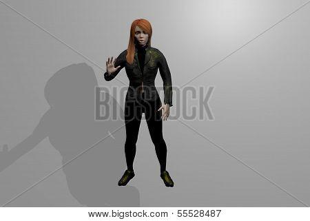 3d figure representing a fictional
