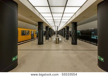 Berlin - August 24: Bundestag Subway Station (u-bahn Station) On August 24, 2013 In Berlin, Germany.