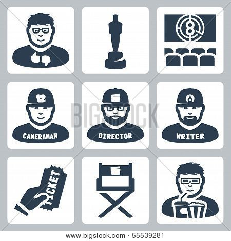 Vector Cinema And Filmmaking Icons