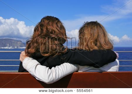 Two Girls Holding
