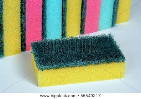Sponge scourers.