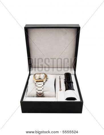 New Men's Watch In A Box - A Gift