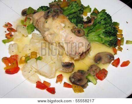 Fontina and prosciutto stuffed chicken breast