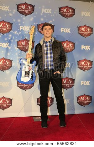 LAS VEGAS - DEC 10:  Scotty McCreery at the 2013 American Country Awards Press Room at Mandalay Bay Events Center on December 10, 2013 in Las Vegas, NV