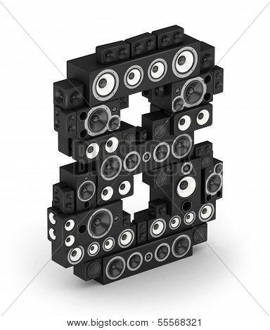 Number 8 from speaker in isometry