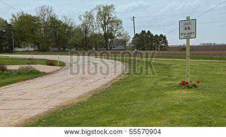 Route 66: Deadman's Curve, Towanda, IL
