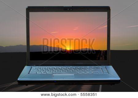 Laptop Sunset1