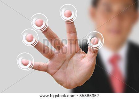 Business Man Making Stop