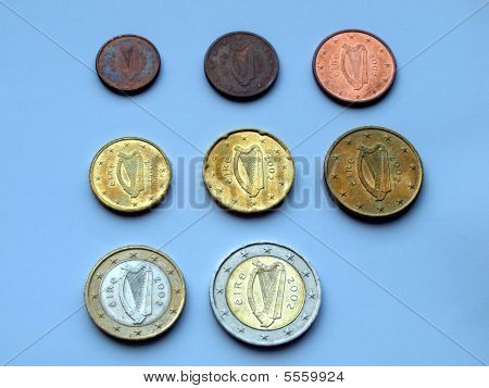 Irish Euro coins